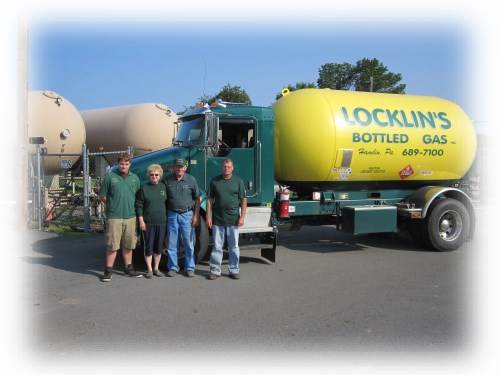 Locklin's Bottled Gas Inc Truck and Employees